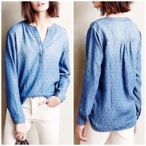 Cloth & Stone Anthropologie Dotted Chambray HW5839